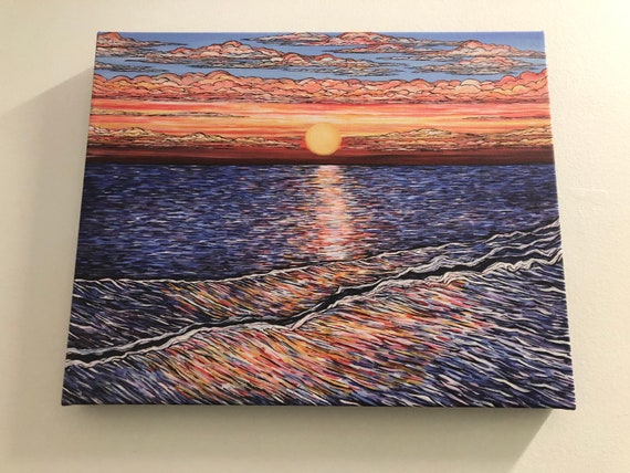 """16x20"""" Giclee Print on Canvas Ripples of Eternity by Tracy Levesque"""