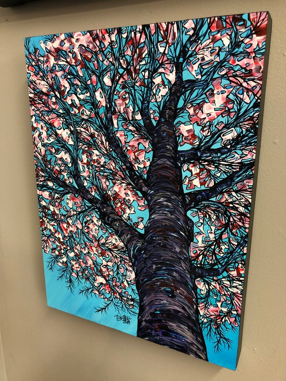 """A Taste of Spring, 12x16"""" Original Acrylic Painting by Tracy Levesque"""