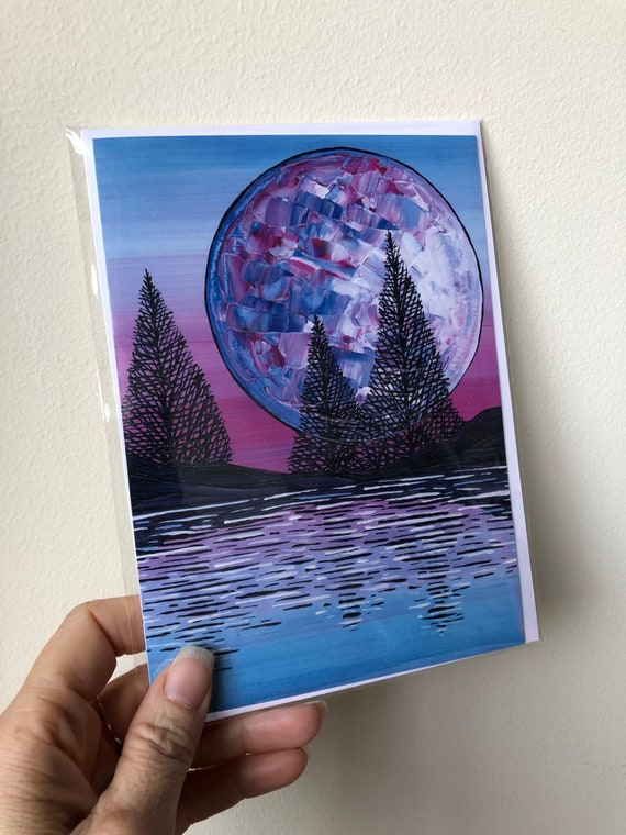 "5x7"" Blank Greeting Card ""Mystic Moon"" featuring artwork by Tracy Levesque"