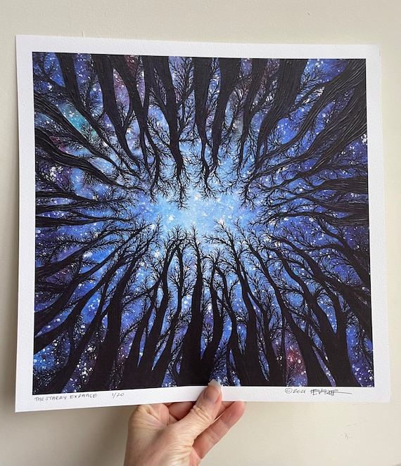 """12x12"""" Giclee Fine Art Print The Starry Expanse by Tracy Levesque"""