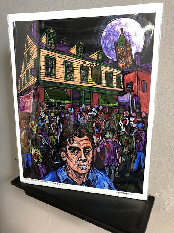 """Hit the Road, Jack Kerouac, Zombie Attack! 11x14"""" Limited Edition Metallic Photographic Print by Tracy Levesque"""