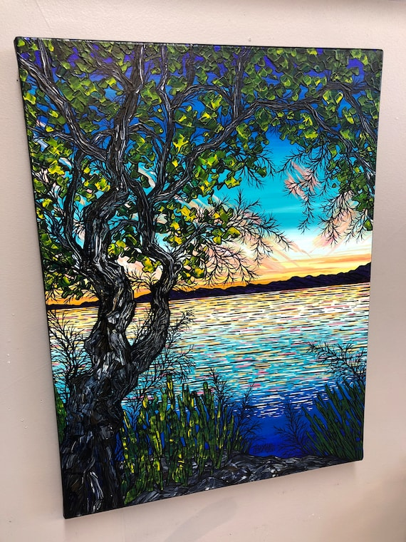"""18x24"""" A Tribute to Summer original acrylic painting by Tracy Levesque"""