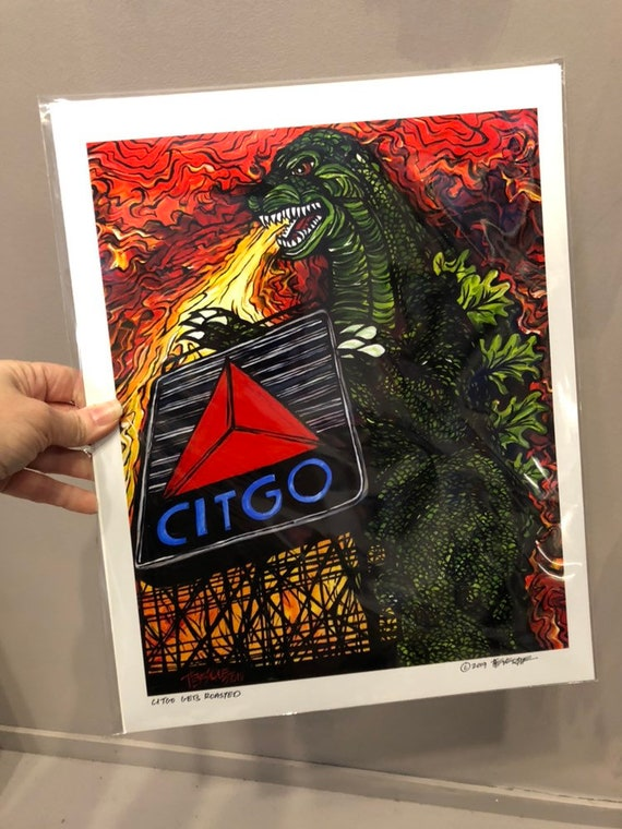 """Boston Citgo Sign Gets Roasted! Limited Edition metallic photo print by Tracy Levesque 8x10"""" or 11x14"""""""