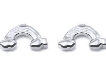 RAINBOW Petite Stud Earrings, Rainbow Studs, Silver Rainbow Stud earrings, Rainbow Stud Earrings, Rainbow Earrings