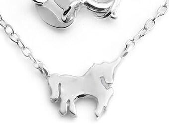 UNICORN Petite Pendant, Unicorn Little Pendant, Small Unicorn Sterling Silver, Unicorn Pendant Necklace, Unicorn Pendant, Unicorn Charm