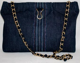 Darling Denim 70s Purse, Vintage Handbags, Vintage Denim, Denim Handbag, Vintage Denim Bag