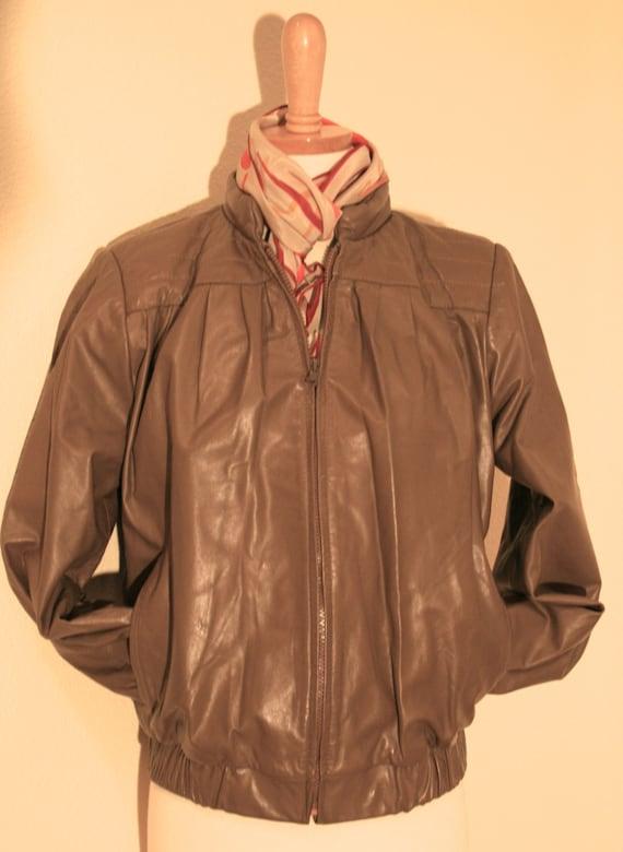 Leather Jacket, Vintage Jacket, 80s Women's Vintag