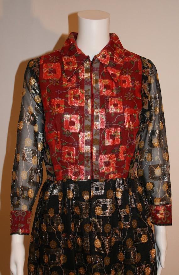 Vintage 1960s Oscar de la Renta Maxi Dress - image 2
