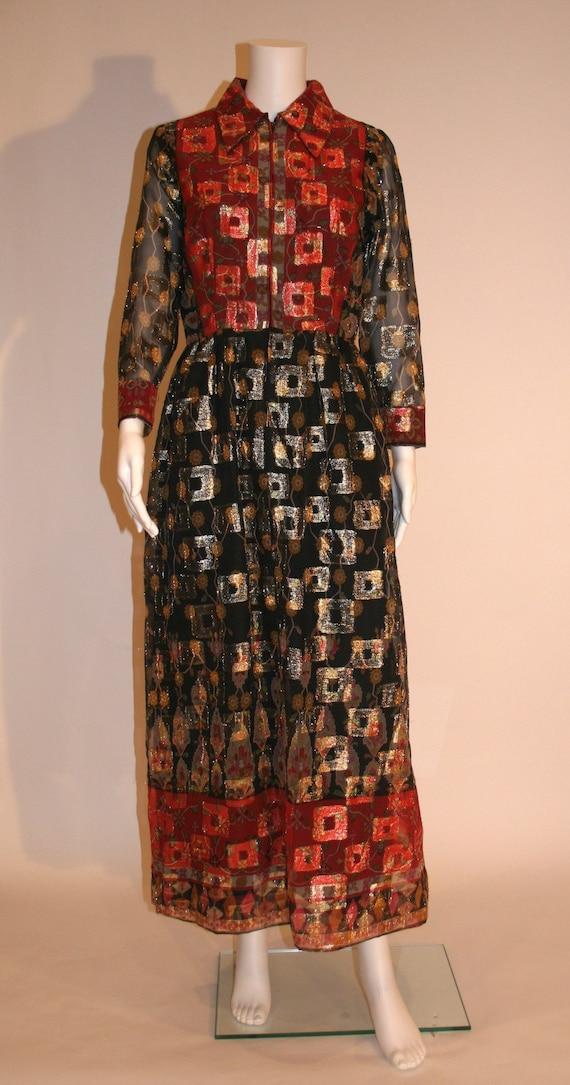 Vintage 1960s Oscar de la Renta Maxi Dress - image 1
