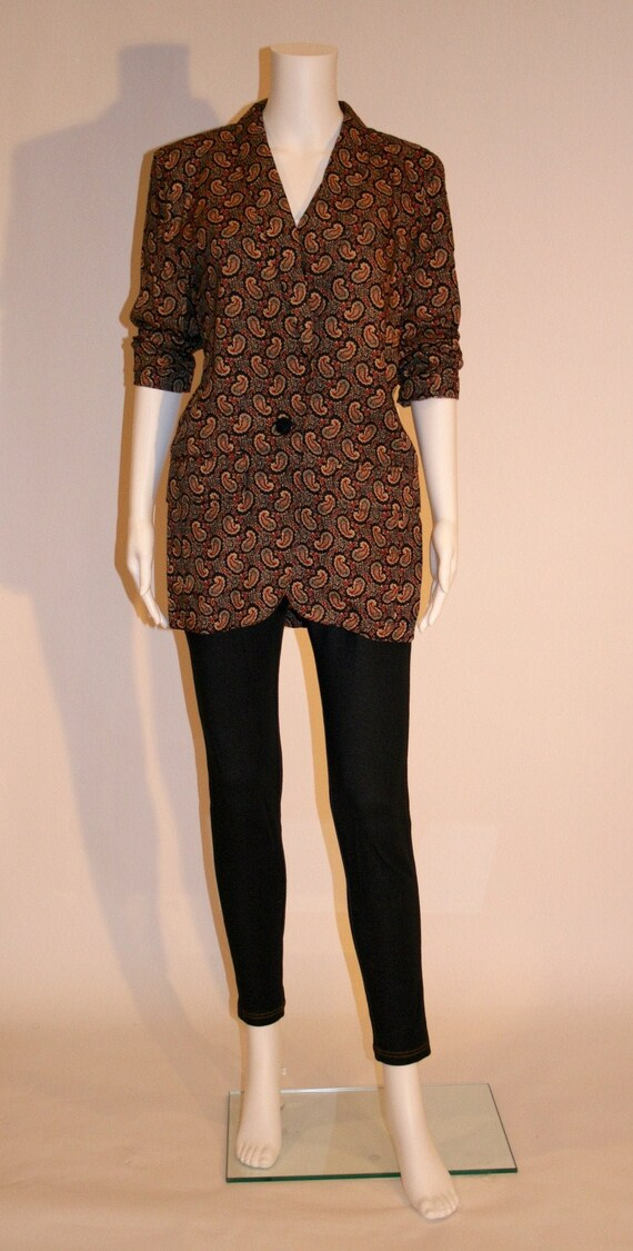 Vintage Fall Paisley Tunic Jacket by LizSport