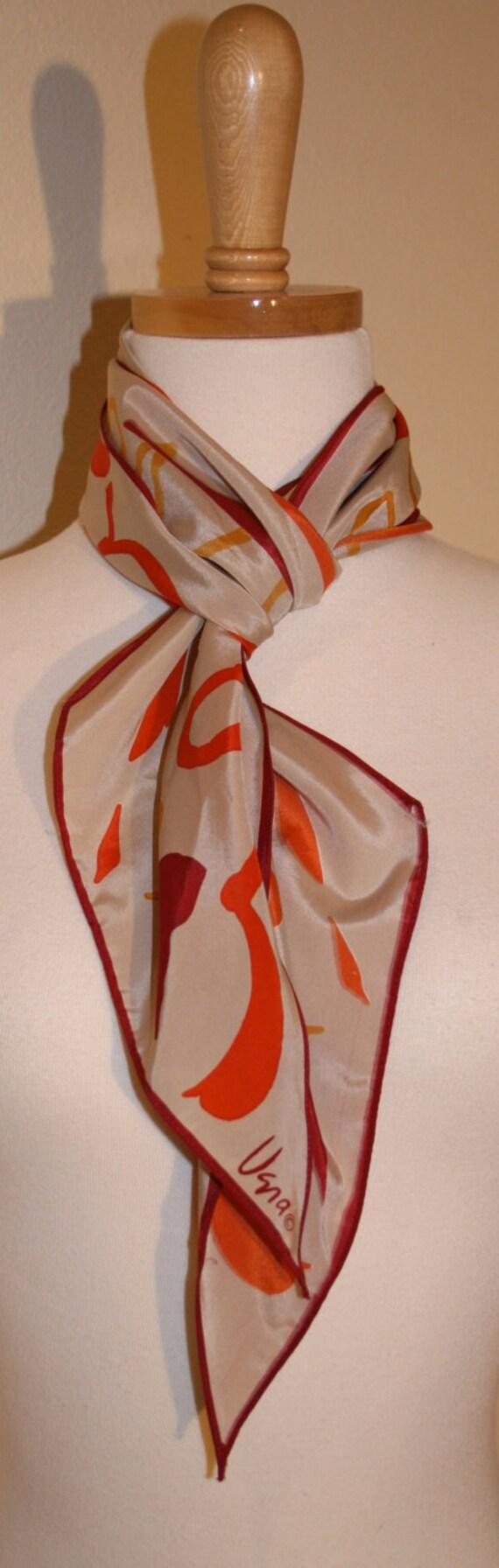 Vintage Scarf, Vera Scarf,Vintage 1970s Vera Silk