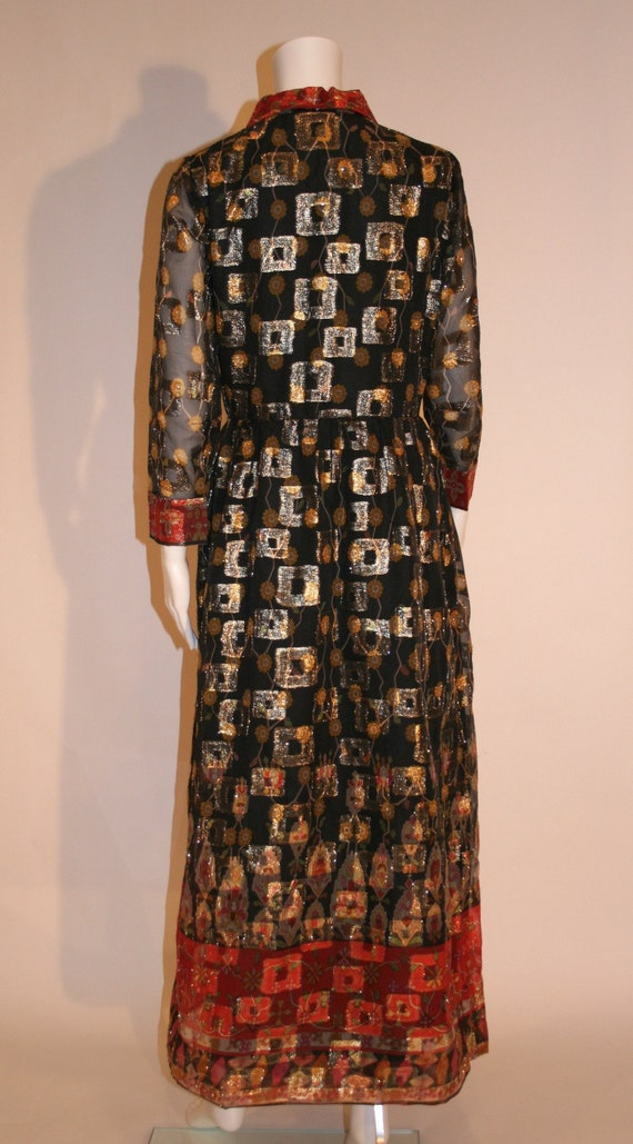 Vintage 1960s Oscar de la Renta Maxi Dress - image 3