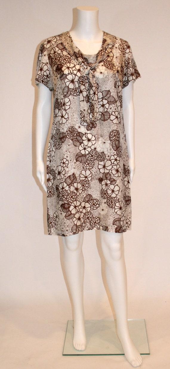 1960s Vintage Floral Dress, Vintage Dresses, 1960s