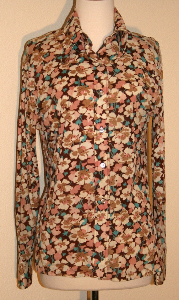 1970's Vintage Silky Blouse by rrrruss, 1970s Blo… - image 1