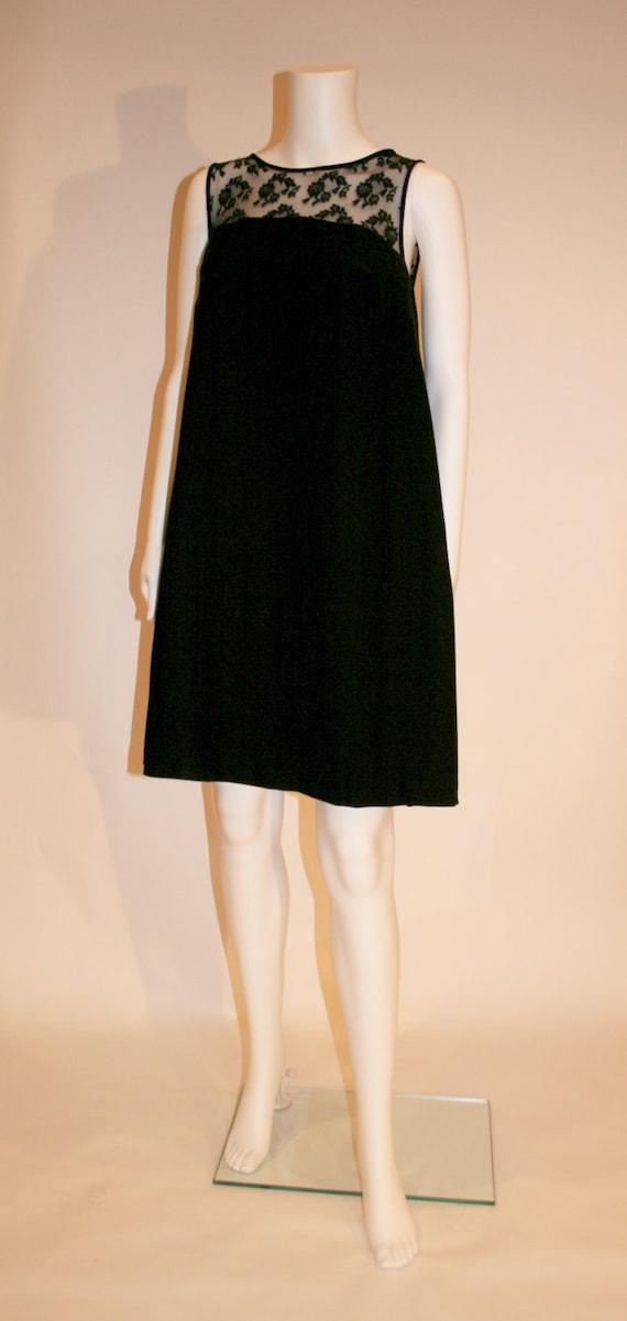 Vintage 1960s Perfect Little Black Swing Dress, Sw