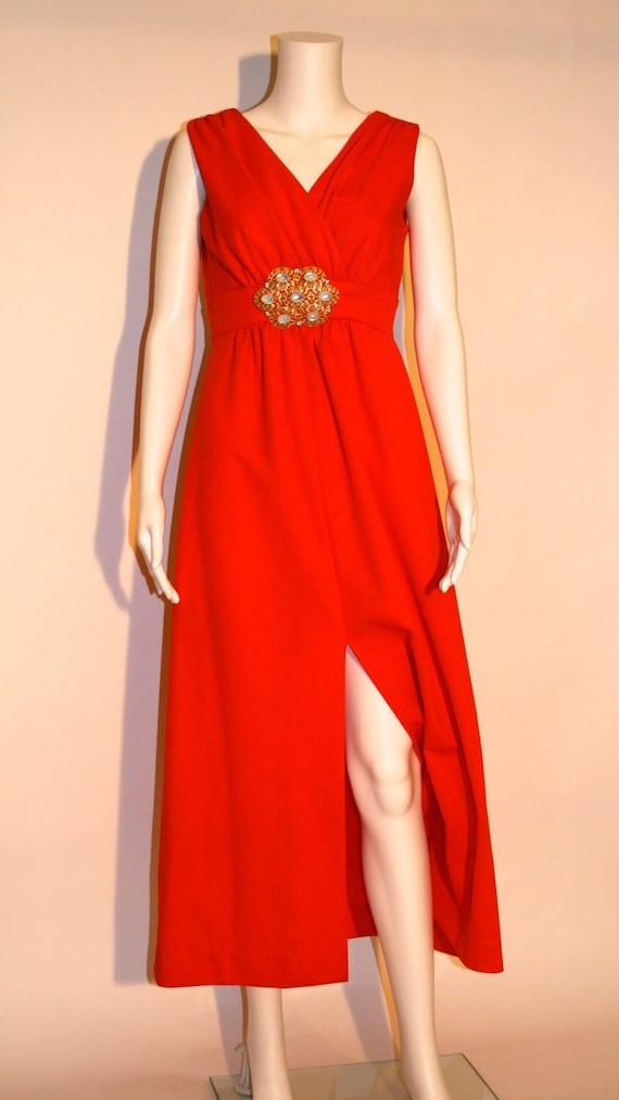 Vintage 70s Joseph Magnin Maxi Dress, 70s Maxi Dre