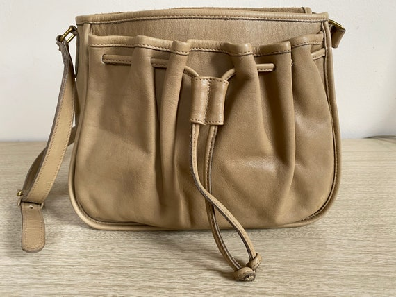 Vintage Coach Bag, Coach Shoulder Bag, Khaki Coac… - image 3