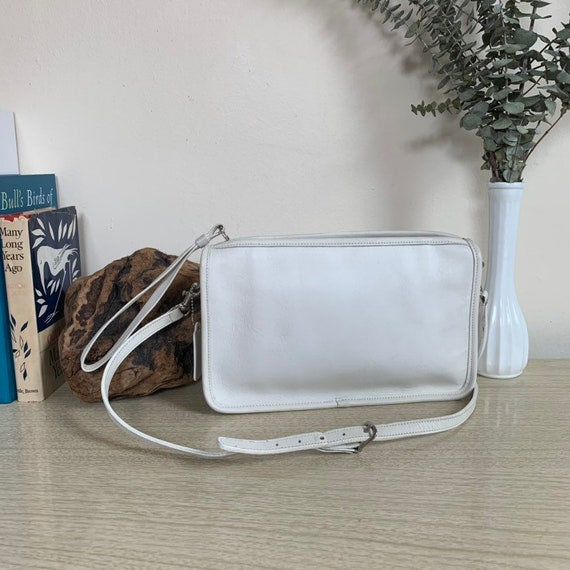 Vintage Coach Bag, Coach Basic Bag, White Vintage