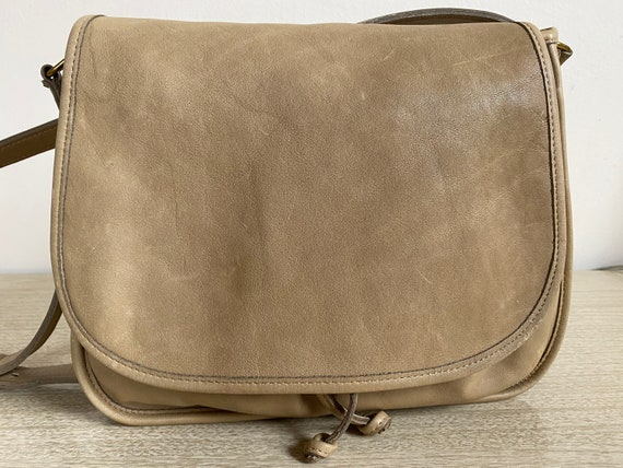 Vintage Coach Bag, Coach Shoulder Bag, Khaki Coac… - image 2