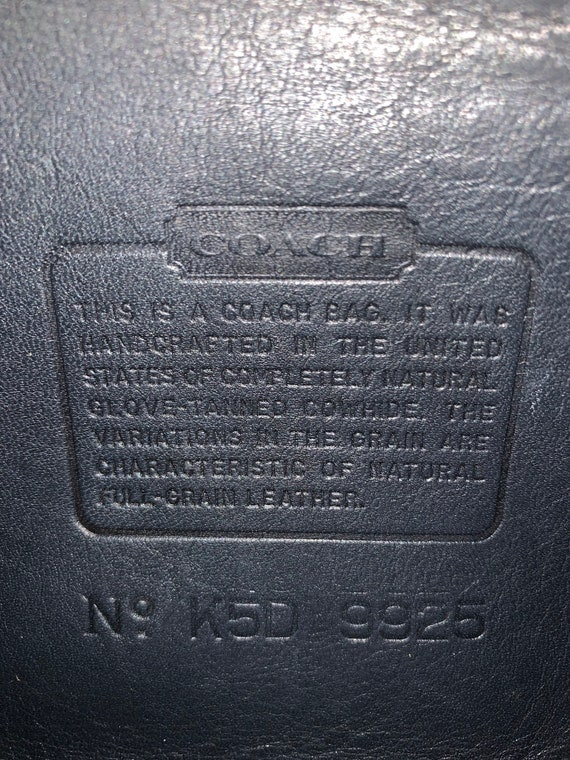 Vintage Coach Bag, Coach Carnival Bag, Navy Blue … - image 10