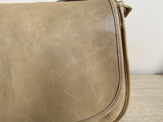 Vintage Coach Bag, Coach Shoulder Bag, Khaki Coac… - image 6