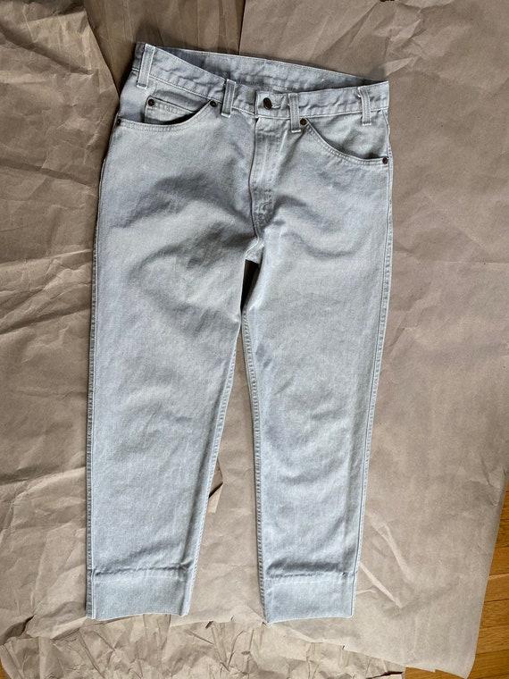 Vintage Levi's 511 31x26 Cropped Jeans Beige Levi… - image 4