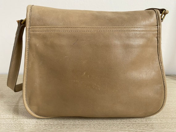 Vintage Coach Bag, Coach Shoulder Bag, Khaki Coac… - image 4