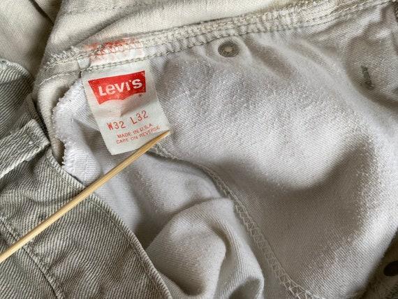 Vintage Levi's 511 31x26 Cropped Jeans Beige Levi… - image 6