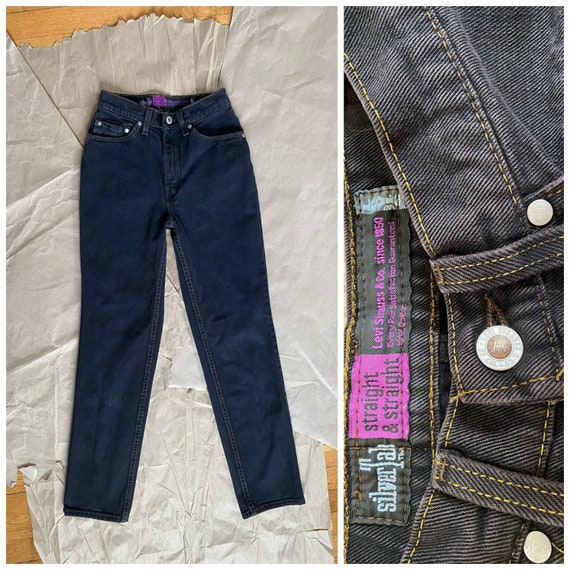 Levi's Silver Tab 24x28 High Waisted Black Jeans M