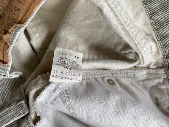Vintage Levi's 511 31x26 Cropped Jeans Beige Levi… - image 5
