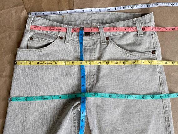Vintage Levi's 511 31x26 Cropped Jeans Beige Levi… - image 9