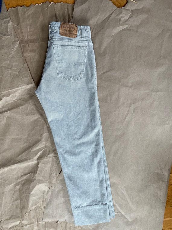 Vintage Levi's 511 31x26 Cropped Jeans Beige Levi… - image 2