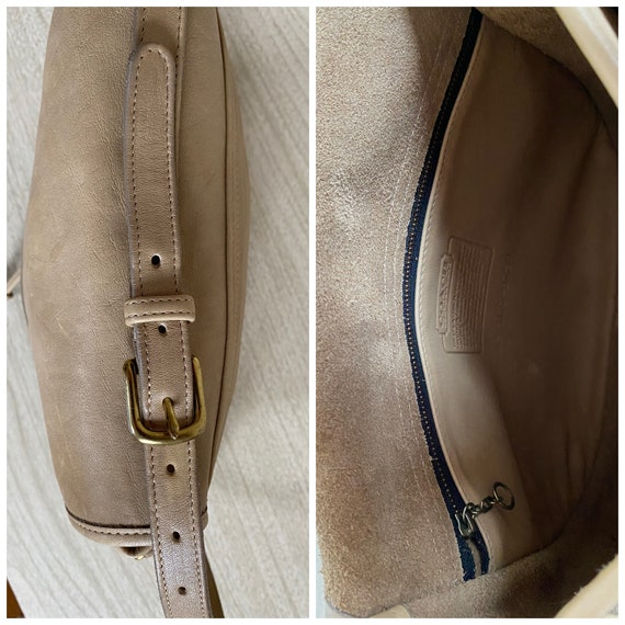 Vintage Coach Bag, Coach Shoulder Bag, Khaki Coac… - image 9