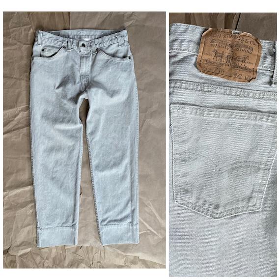 Vintage Levi's 511 31x26 Cropped Jeans Beige Levi'
