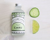 Cucumber + Lime ORGANIC Facial Toner, Alcohol-Free, made of organic HYDROSOLS, great for combination skin