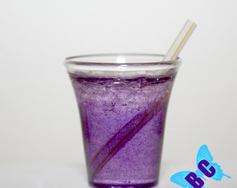 "Grape Soda with Ice | American Girl Doll Sized | Drink Juice Pretend Food 18"" doll"