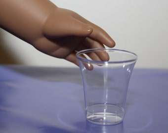 "Set of 20 Clear Drinking Cups for 18"" Dolls Perfect for American Girl Size Kitchen Accessories"
