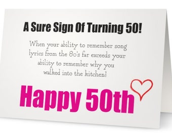50th Birthday Card For Husband Wife Gift Ideas