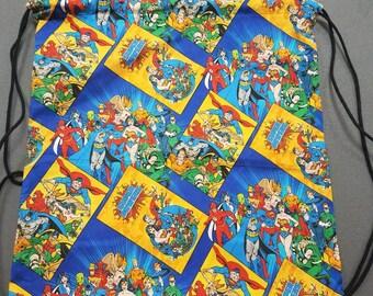 Justice League Teen/Adult Drawstring Bag