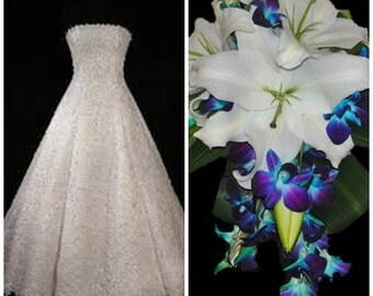 Silk-Real Touch Bridal bouquet and matching bout