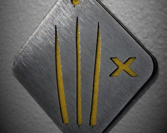 Wolverine Themed Ornament, Stainless Steel, X-Men