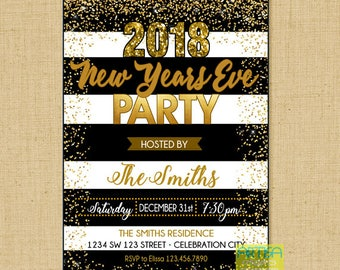 new years eve party invitation gold black new year eve party invitation 2018 new years eve party invitation 2018 happy new year invite