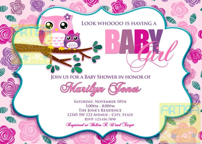 Pink owl baby shower invitation owl baby girl shower etsy image 0 filmwisefo