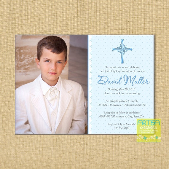 boy first communion invitations boys first communion etsy