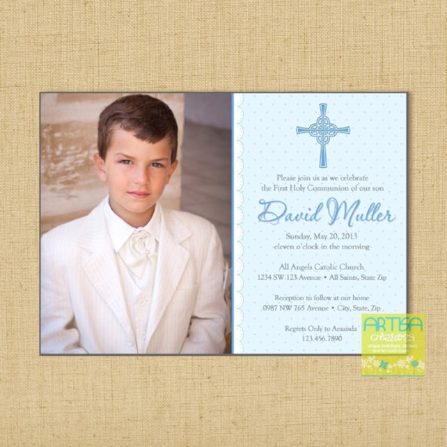 boy first communion invitations boys first communion etsy