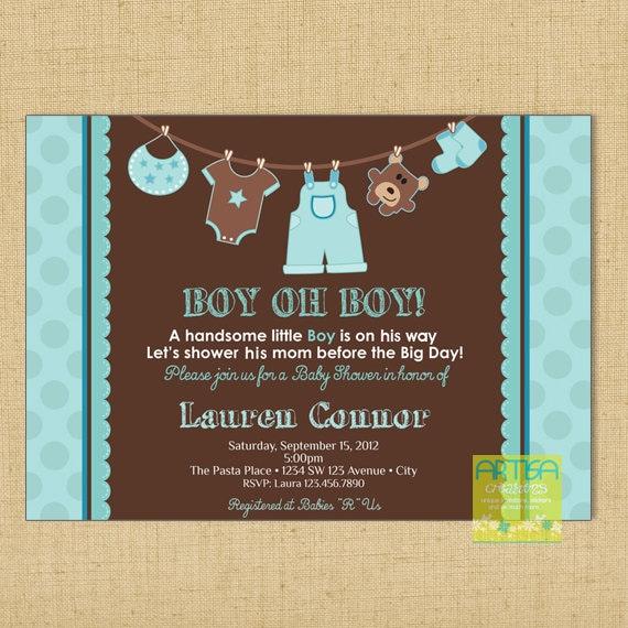 Boy Baby Shower Invitation Baby Boy Shower Invitation Boy | Etsy