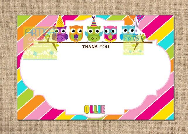 Owl Birthday Invitation Colorful Owl Birthday Invitation Diy