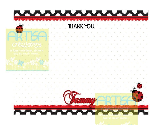 Grazie Coccinella Coccinelle Grazie Lady Bug Nota Carta Etsy