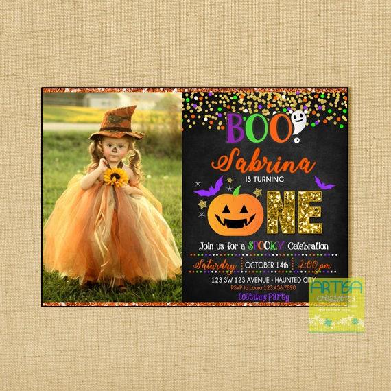 Halloween Birthday Invitation 1st