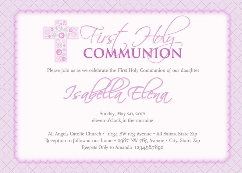 Girls First Communion Invitations Image 0